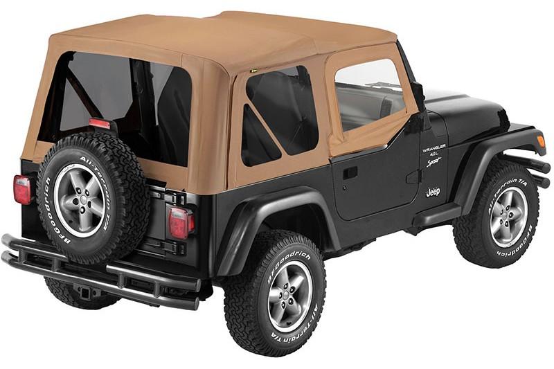 【US直輸入正規品】BESTOP (べストップ)セルクロス リプレイスアトップ(ティンテッドウィンドウ付)Jeep (ジープ)Wrangler (ラングラー) 1988-1995年(ドアスキン付)※スパイスカラー