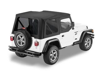 【US直輸入正規品】BESTOP (べストップ)セルクロス リプレイスアトップ(ティンテッドウィンドウ付)Jeep (ジープ)Wrangler (ラングラー) 1997-2002年(ドアスキン付)※ブラック