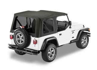 【US直輸入正規品】BESTOP (べストップ)セルクロス リプレイスアトップ(ティンテッドウィンドウ付)Jeep (ジープ)Wrangler (ラングラー)1997-2002年(ドアスキンなし)※ブラック