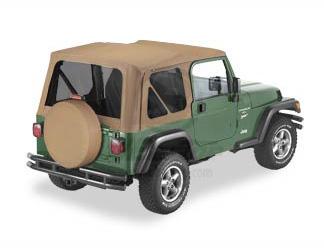 【US直輸入正規品】BESTOP (べストップ)セルクロス リプレイスアトップ(ティンテッドウィンドウ付)Jeep (ジープ)Wrangler (ラングラー)1997-2002年(ドアスキンなし)※スパイスカラー