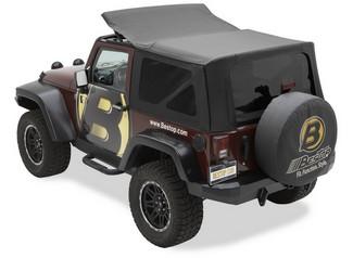 【US直輸入正規品】BESTOP (べストップ)セルクロス リプレイスアトップ(ティンテッドウィンドウ付)Jeep (ジープ)Wrangler(ラングラー)2011-2010年 (ドアなし)※ブラックダイアモンド