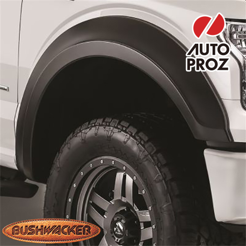 [Bushwacker 正規品] フォード F-250/F-350 スーパーデューティー 6フィート8インチ/8フィート2インチベッド 2017-2020年 Extend-A-Fenderスタイル フェンダーフレア/オーバーフェンダー ※フロントのみ