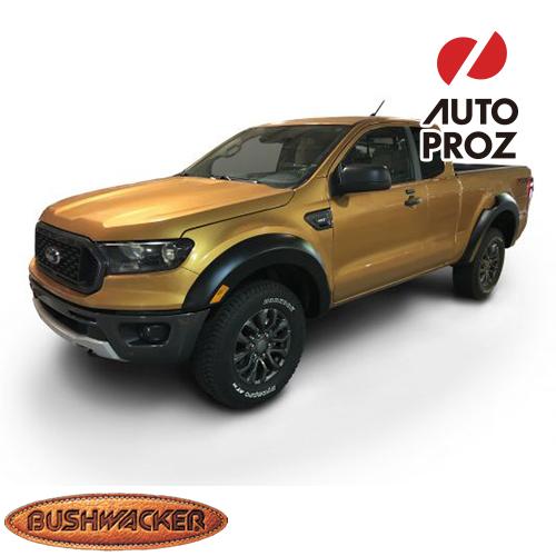 [Bushwacker 正規品] フォード レンジャー エクステンドキャブ (6フィートベッド) 2019年 Extend-A-Fenderスタイル フェンダーフレア/オーバーフェンダー ※フロント・リアセット