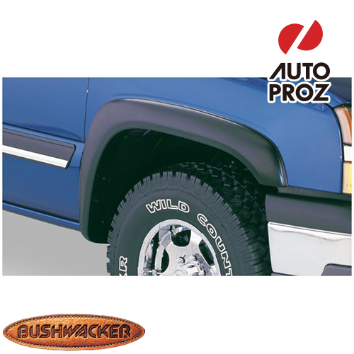 [Bushwacker 正規品] シボレー シルバラード 1500 フリートサイド 6フィート6インチ/8フィート1インチベッド 2007-2013年 Extend-A-Fenderスタイル フェンダーフレア/オーバーフェンダー ※フロントのみ
