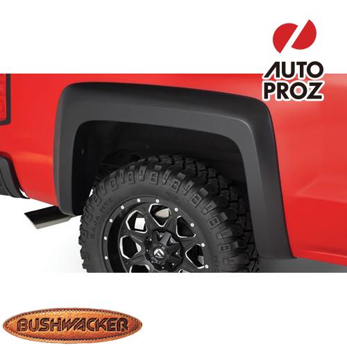 [Bushwacker 正規品] シボレー シルバラード 2500HD/3500HD フリートサイド 6フィート6インチ/8フィート1インチベッド 2007-2014年 Extend-A-Fenderスタイル フェンダーフレア/オーバーフェンダー ※リアのみ