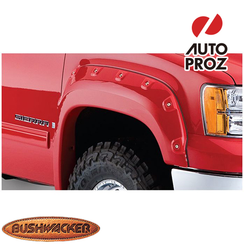 [Bushwacker 正規品] GMC シエラ 1500 フリートサイド 5フィート8インチ/6フィート6インチ/8フィート1インチベッド 2007-2013年 カットアウトスタイル フェンダーフレア/オーバーフェンダー ※フロントのみ