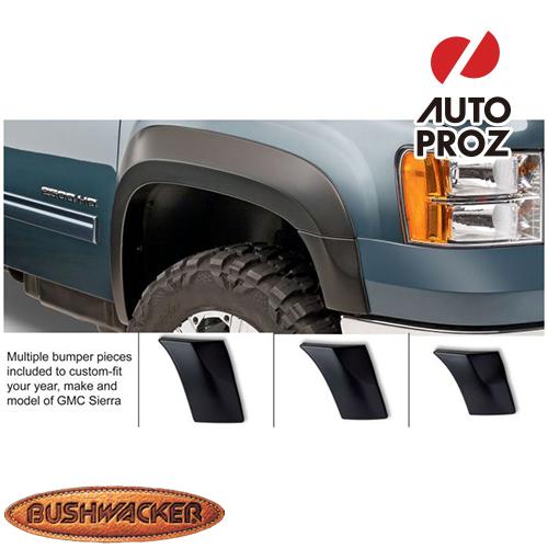 [Bushwacker 正規品] GMC シエラ 1500 フリートサイド 6フィート6インチ/8フィート1インチベッド 2007-2013年 Extend-A-Fenderスタイル フェンダーフレア/オーバーフェンダー ※フロントのみ