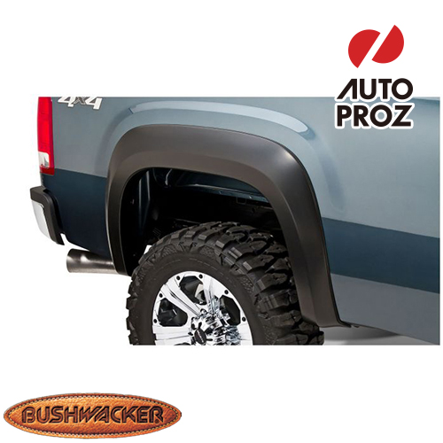 [Bushwacker 正規品] GMC シエラ 1500 フリートサイド 5フィート8インチベッド 2007-2013年 Extend-A-Fenderスタイル フェンダーフレア/オーバーフェンダー ※リアのみ