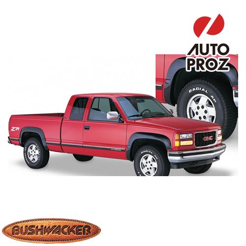 [USブッシュワーカー 直輸入正規品] Bushwacker シボレー GMC ブレーザー C/K タホ OEスタイル フェンダーフレア/オーバーフェンダー フロントリアセット マットブラック