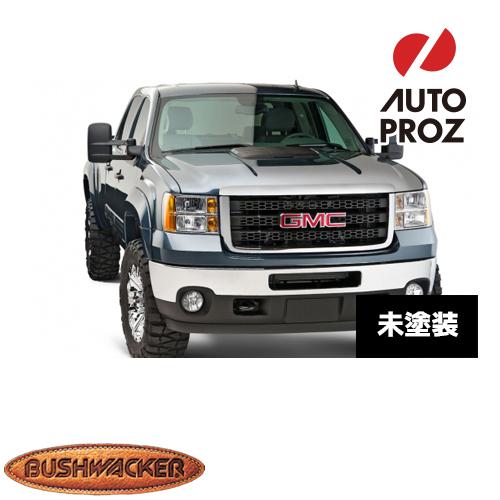 [USブッシュワーカー 直輸入正規品] Bushwacker GMC シエラ 1500/2500/3500 HD デナリ エクステンドAフェンダー フェンダーフレア フロントリアセット マットブラック