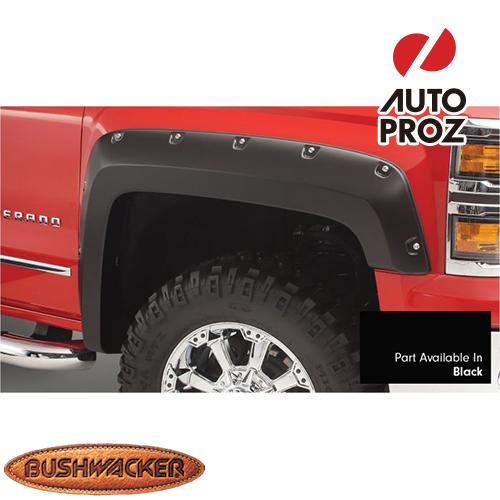 [Bushwacker 正規品] シボレー シルバラード 2500HD/3500HD フリートサイド 6フィート6インチ/8フィート1インチベッド 2017-2019年 ポケットスタイル フェンダーフレア/オーバーフェンダー ※フロント・リアセット