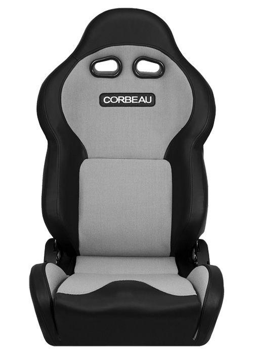 [USコルビュー 直輸入正規品] CORBEAU VX2000 リクライニングシート(ビニール/布シート) ブラック/グレー (運転席 助手席セット)