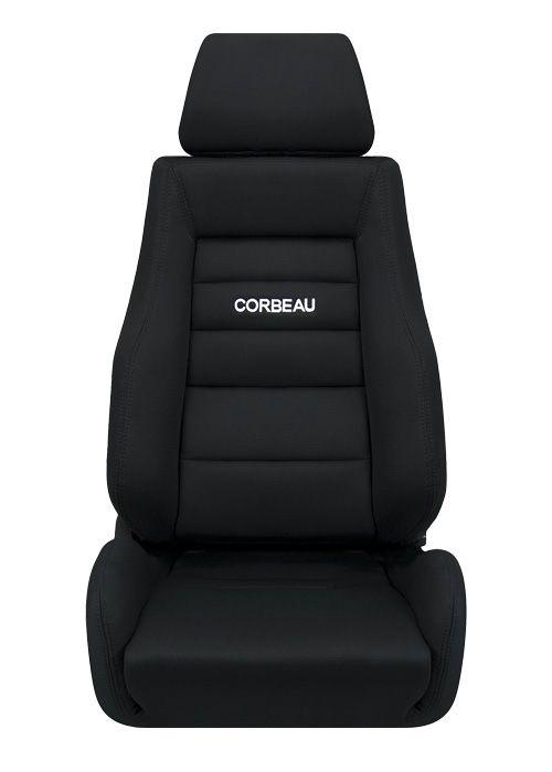 贅沢 [USコルビュー 直輸入正規品] CORBEAU GTS リクライニングシート(布シート) ブラック (運転席 助手席セット), 名入れボールペンのひよこ堂 55f7a583