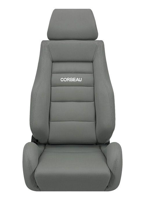 [USコルビュー 直輸入正規品] CORBEAU GTS リクライニングシート(布シート) グレー (運転席 助手席セット)