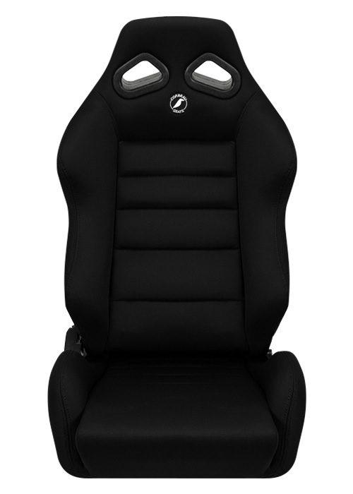 [USコルビュー 直輸入正規品] CORBEAU TRS リクライニングシート(布シート) ブラック ワイド (運転席 助手席セット)