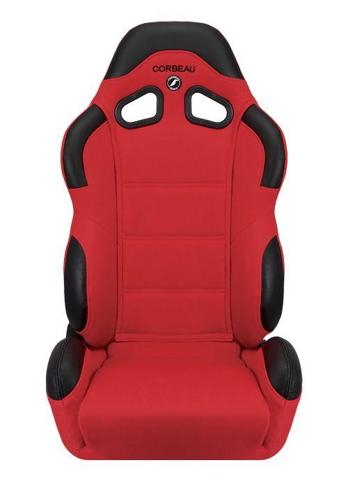 [USコルビュー 直輸入正規品] CORBEAU CR1 リクライニングシート(布シート) レッド (運転席 助手席セット)