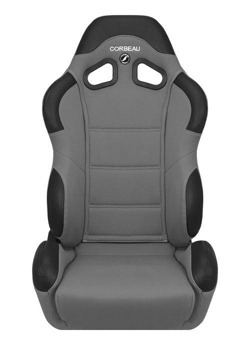 [USコルビュー 直輸入正規品] CORBEAU CR1 リクライニングシート(布シート) グレー (運転席 助手席セット)