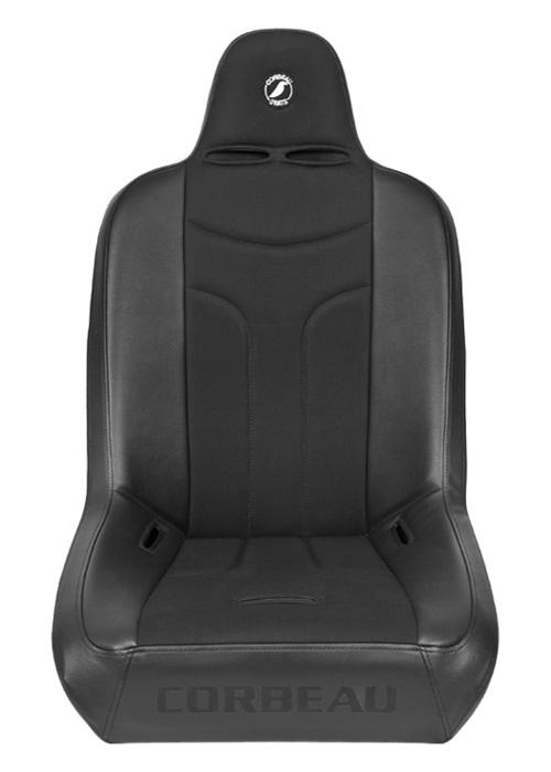 [USコルビュー 直輸入正規品] CORBEAU Baja JP サスペンションシート(ビニール/布シート) ブラック ワイド (1席)
