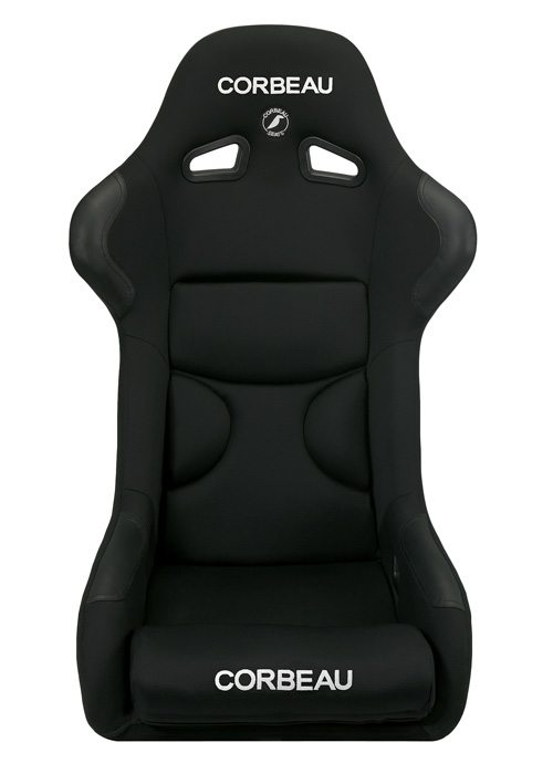 [USコルビュー 直輸入正規品] CORBEAU FX1 フィックスバックシート(布シート) ブラック ワイド (1席)