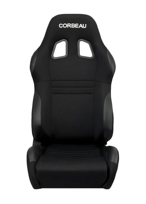 [USコルビュー 直輸入正規品] CORBEAU A4 リクライニングシート(バケットシート) ブラック (運転席 助手席セット)