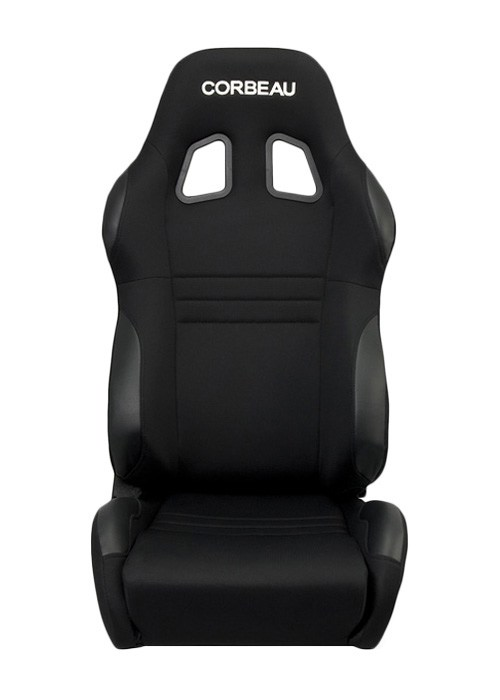 [USコルビュー 直輸入正規品] CORBEAU A4 リクライニングシート(バケットシート) ワイド ブラック (運転席 助手席セット)