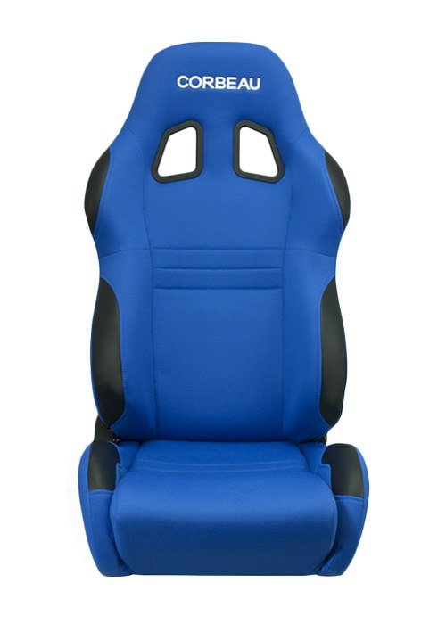 [USコルビュー 直輸入正規品] CORBEAU A4 リクライニングシート(バケットシート) ブルー (助手席のみ)