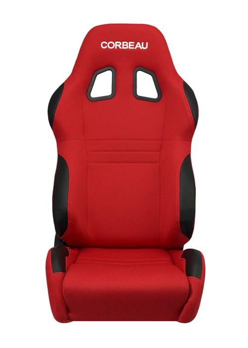 [USコルビュー 直輸入正規品] CORBEAU A4 リクライニングシート(バケットシート) レッド (運転席 助手席セット)
