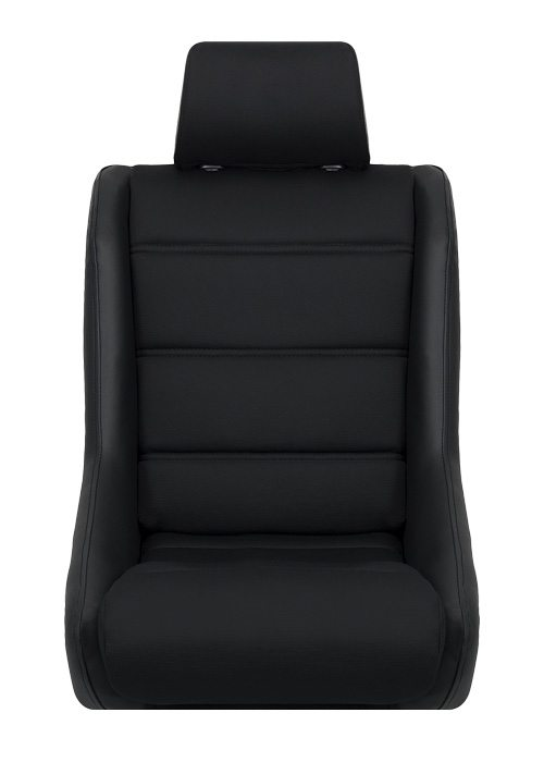 [USコルビュー 直輸入正規品] CORBEAU Classic フィックスバックシート(ビニール/布シート) ブラック (1席)