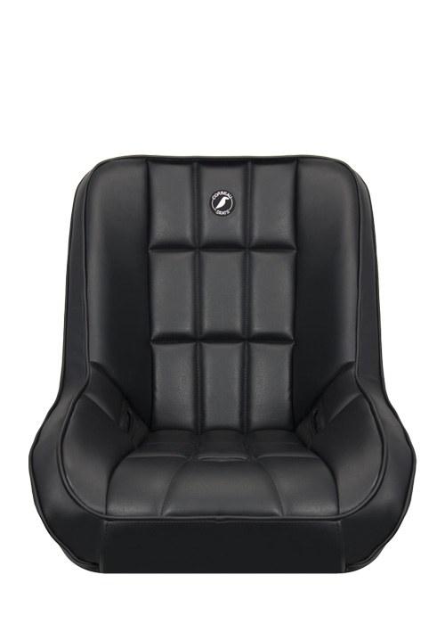 [USコルビュー 直輸入正規品] CORBEAU Baja Low Back サスペンションシート(ビニールシート) ブラック (1席) ※ヘッドレストなし