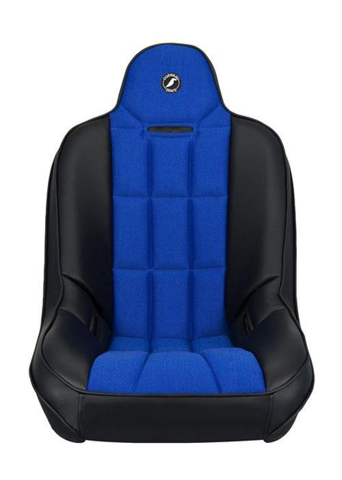 [USコルビュー 直輸入正規品] CORBEAU Baja SS サスペンションシート(ビニール/布シート) ブラック/ブルー (1席)