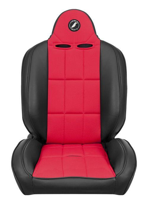 [USコルビュー 直輸入正規品] CORBEAU Baja RS サスペンションシート(ビニール/布シート) ブラック/レッド (助手席)