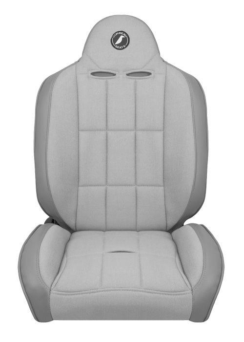 [USコルビュー 直輸入正規品] CORBEAU Baja RS サスペンションシート(ビニール/布シート) グレー (運転席、助手席セット)
