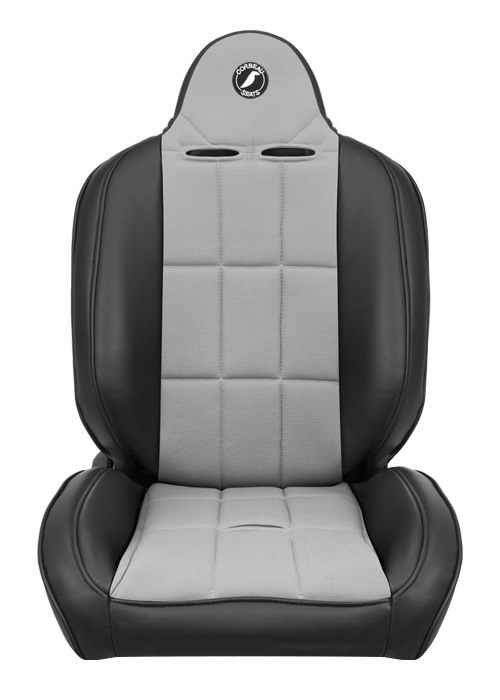 [USコルビュー 直輸入正規品] CORBEAU Baja RS サスペンションシート(ビニール/布シート) ブラック/グレー (運転席、助手席セット)