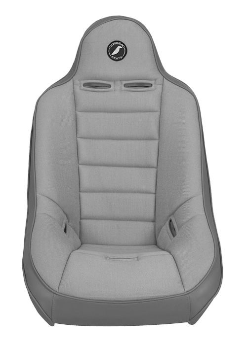 [USコルビュー 直輸入正規品] CORBEAU Baja Ultra サスペンションシート(ビニール/布シート) グレー ワイド (2席)