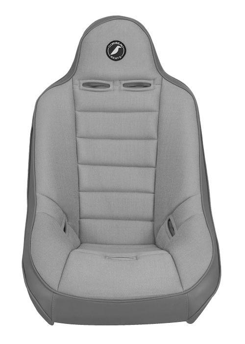[USコルビュー 直輸入正規品] CORBEAU Baja Ultra サスペンションシート(ビニール/布シート) グレー ワイド (1席)