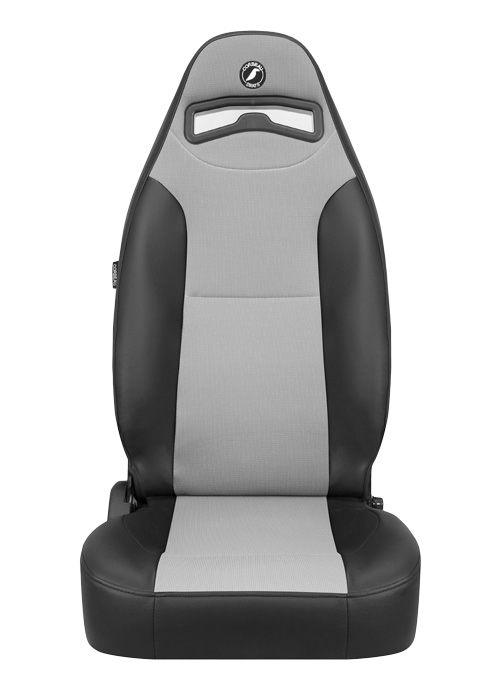 [USコルビュー 直輸入正規品] CORBEAU Moab リクライニングシート(ビニール/布シート) ブラック/グレー (運転席 助手席セット)