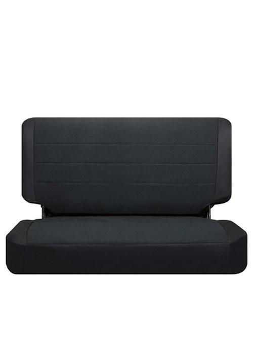 [USコルビュー 直輸入正規品] CORBEAU Jeep TJ 03-06 Rear Seat Covers シートカバー(ビニール/布シート) ブラック