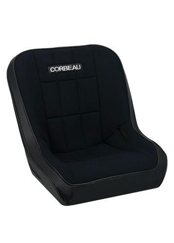 [USコルビュー 直輸入正規品] CORBEAU RXP Rhino シート(ビニール/布製) ブラック (運転席 助手席共用) ※1脚