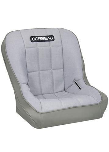 [USコルビュー 直輸入正規品] CORBEAU RXP Rhino シート(ビニール/布製) グレー (運転席 助手席共用) ※1脚