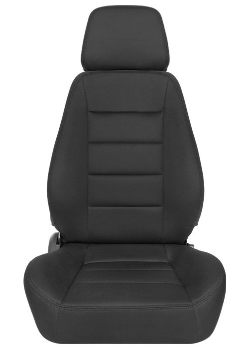 [USコルビュー 直輸入正規品] CORBEAU Sport Seat リクライニングシート(布シート) ブラック (運転席 助手席セット)