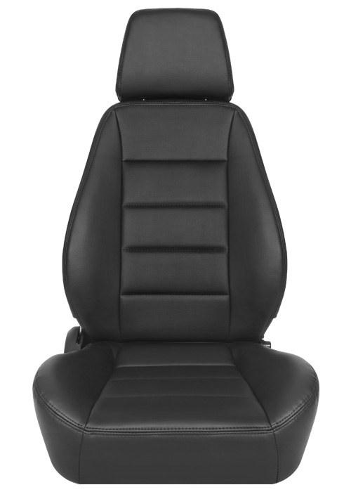 [USコルビュー 直輸入正規品] CORBEAU Sport Seat リクライニングシート(ビニール/布シート) ブラック (運転席)