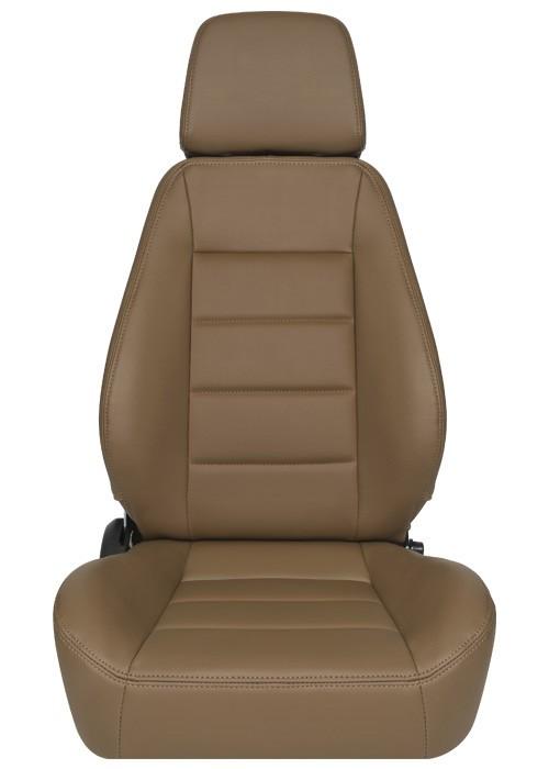 [USコルビュー 直輸入正規品] CORBEAU Sport Seat リクライニングシート(ビニールシート) タン (運転席 助手席セット)