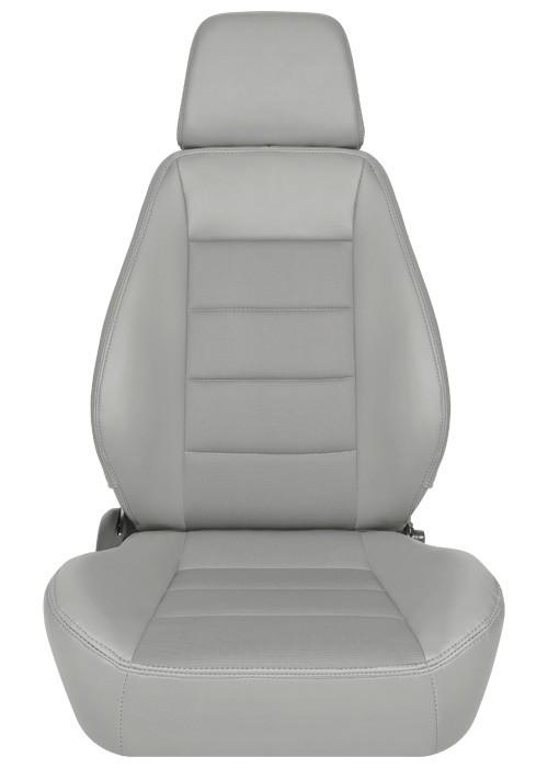 [USコルビュー 直輸入正規品] CORBEAU Sport Seat リクライニングシート(ビニール/布シート) グレー (運転席 助手席セット)