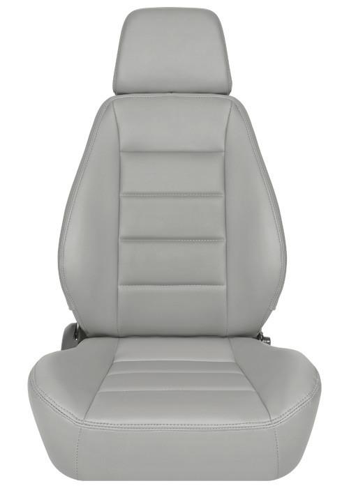 [USコルビュー 直輸入正規品] CORBEAU Sport Seat リクライニングシート(ビニールシート) グレー (運転席 助手席セット)