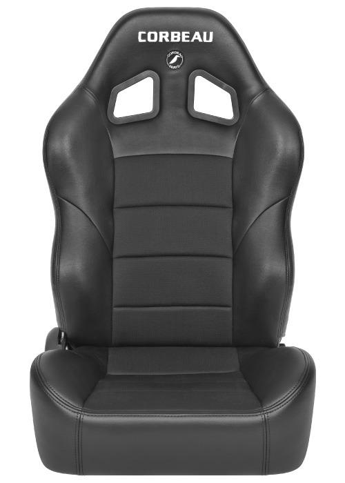 [USコルビュー 直輸入正規品] CORBEAU Baja XRS リクライニングシート(ビニール/布シート) ブラック (運転席、助手席セット)