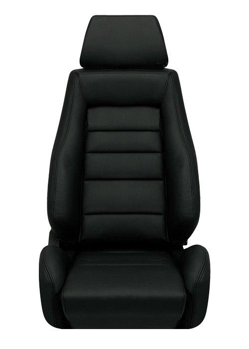 [USコルビュー 直輸入正規品] CORBEAU GTS リクライニングシート(レザーシート) ブラック (運転席 助手席セット)