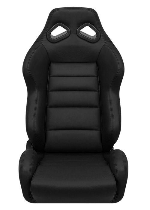 [USコルビュー 直輸入正規品] CORBEAU TRS リクライニングシート(レザーシート) ブラック (助手席)
