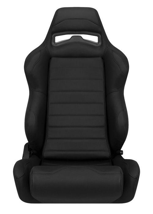 [USコルビュー 直輸入正規品] CORBEAU LG1 リクライニングシート(レザーシート) ブラック/グレー ワイド (助手席)