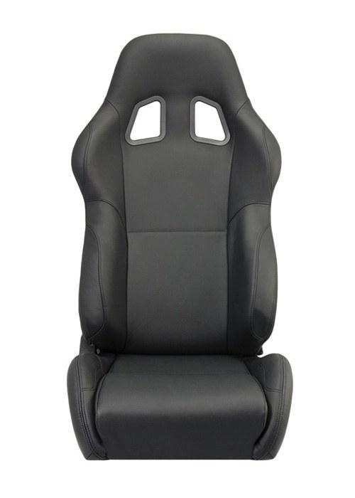 [USコルビュー 直輸入正規品] CORBEAU A4 リクライニングシート(レザーシート) ブラック (運転席 助手席セット)