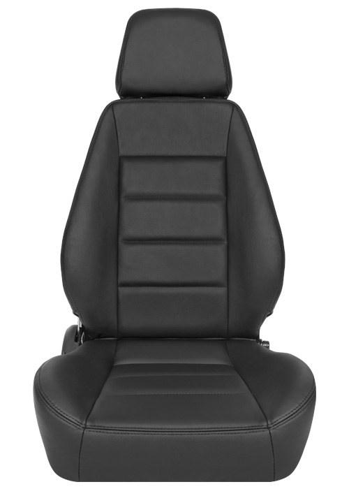 [USコルビュー 直輸入正規品] CORBEAU Sport Seat リクライニングシート(レザーシート) ブラック (運転席 助手席セット)